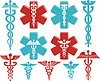 Medizinisches Symbol des Caduceus | Stock Vektrografik