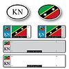 St. Kitts und Nevis Auto Set