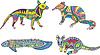 Motley Känguru, Fische und exotische Tiere