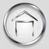 Векторный клипарт: Концепция металлик дом символ логотип