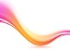 Векторный клипарт: Абстрактный розовый и оранжевый футуристический волны