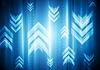 Векторный клипарт: Яркий геометрия фон со стрелками