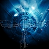 Векторный клипарт: Синий технологий абстрактный фон