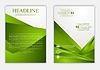 Векторный клипарт: Абстрактный зеленый корпоративный технологический дизайн флаера