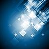 Векторный клипарт: Ярко-синий фон технологий квадратов