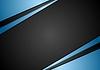 Векторный клипарт: Черно-синий абстрактный дизайн