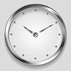 Векторный клипарт: Абстрактные металлические часы дизайн