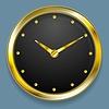 Векторный клипарт: Абстрактный золотой дизайн часы