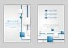 Векторный клипарт: Абстрактный синий корпоративный технологический дизайн флаера