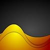 Векторный клипарт: Оранжевый и черный волнистый корпоративный фон