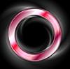 Векторный клипарт: Яркий свечение красного веб элемент круг. Логотип фон