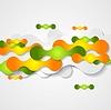 Векторный клипарт: Оранжевый и зеленый круги формирует фон