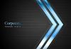 Векторный клипарт: Голубые светящиеся стрелки