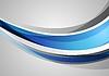 Векторный клипарт: Синий и серый корпоративные волны фон