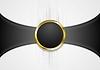 Векторный клипарт: Абстрактный фон с золотой форме круга