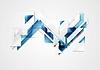 Векторный клипарт: Яркий привет технологий геометрия фон
