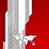 Rot und grau-Technologie Hintergrund mit Weltkarte