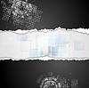 Grunge technischen Hintergrund mit zerlumpte Rand Papier