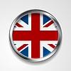 Vereinigtes Königreich Großbritannien Metall Schaltfläche Flag