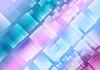 抽象的蓝紫色方块背景 | 向量插图