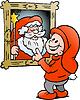Handgezeichnete ein Happy Christmas Elf sah pictur