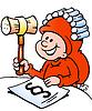 Handgezeichnete ein Happy Christmas Elf Studium der Rechtswissenschaften