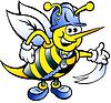 Handgezeichnete eine Glückliche Arbeitsbienen-