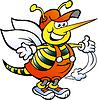 Handgezeichnete ein frohes Handyman Bee