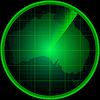 Radarschirm mit Silhouette von Australien