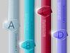Business glass Infografik. Vektor-Illustration.