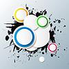 abstrakter bunten Hintergrund mit Kreisen