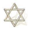 metallic Davidstern als Symbol des Judentums