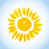 Векторный клипарт: солнце на фоне голубого неба