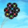 Векторный клипарт: виниловые диски как воздушные шары на фоне акварель