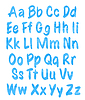 Векторный клипарт: алфавит набор с голубой узор акварельной