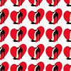 Nahtlose Muster mit Herzen und Schuhe