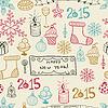 ID 4613299 | Bez szwu pateern z christmas doodles | Klipart wektorowy | KLIPARTO
