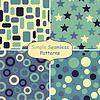 vier abstrakte nahtlose Muster