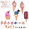 Векторный клипарт: Мороженое конструктор