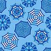 Векторный клипарт: бесшовный фон с зонтиками