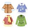 Reihe von Winterkleidung für Kinder