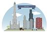 Векторный клипарт: Чикаго, США