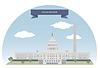 Векторный клипарт: Вашингтон, США
