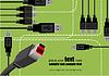 Векторный клипарт: Абстрактный корпоративный фон создается из USB порта