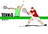 Векторный клипарт: Человек игроком в теннис. Цветные для дизайнеров