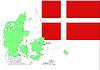 Векторный клипарт: Дания карта и флаг, набор