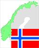 Векторный клипарт: Норвегия карта и флаг, набор