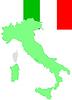 Italien, italienischer Flagge und Karte,