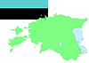Karte von Estland und die estnische Flagge