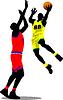 Векторный клипарт: Баскетболисты